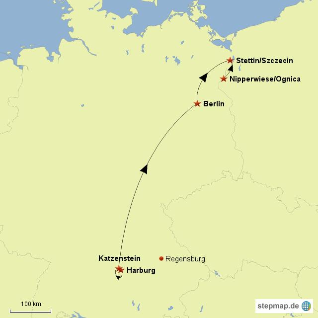 Von Harburg nach Stettin 1652-1945