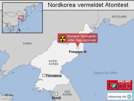 Korrektur: Nordkorea vermeldet Atomtest