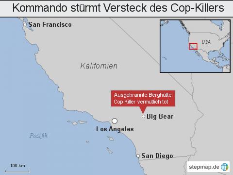 Kalifornien: Kommando stürmt Versteck des Cop-Killers