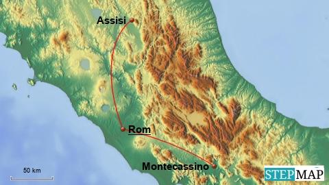 Rom Montecassino Assisi