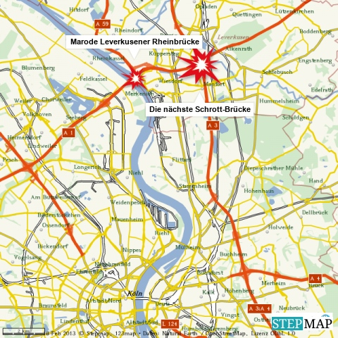 Neues Brücken-Chaos in Leverkusen