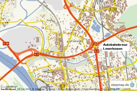 Autobahnkreuz Leverkusen A1/A3