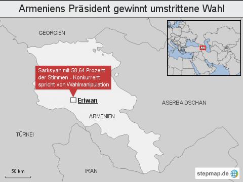 Armeniens Präsident gewinnt umstrittene Wahl