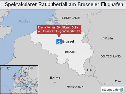 Spektakulärer Raubüberfall am Brüsseler Flughafen