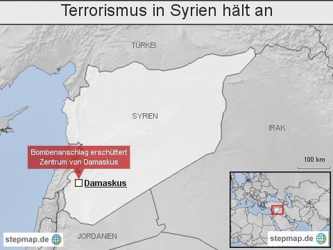 Terrorismus in Syrien hält an