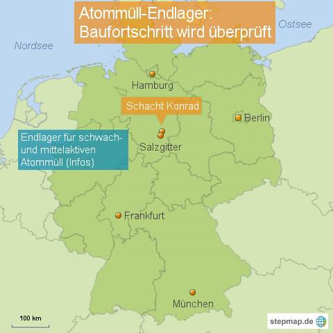 Atommüll-Endlager - Baufortschritt wird überprüft