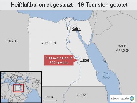 Heißluftballon abgestürzt - 19 Touristen getötet