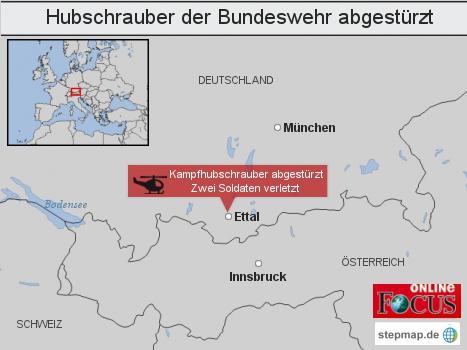 Hubschrauber der Bundeswehr abgestürzt