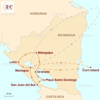 Routenkarte zur Reise Mundo Nica