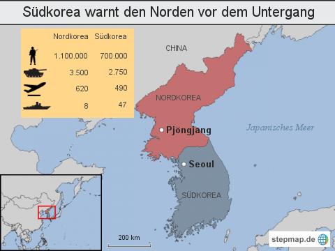 Südkorea warnt den Norden vor dem Untergang