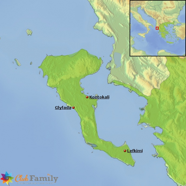 Beliebte Urlaubsorte auf Korfu