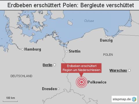 Erdbeben erschüttert Polen: Bergleute verschüttet