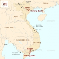 Routenkarte zur Reise Private Kreuzfahrten: Halong Bucht & Mekong Delta