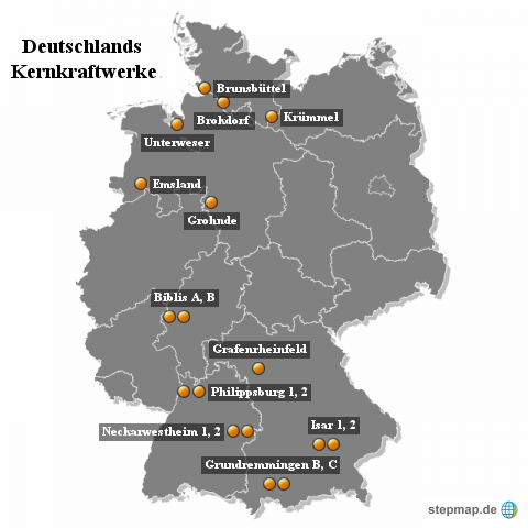 Deutschlands Kernkraftwerke