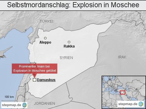 Syrien: Selbstmordanschlag - Explosion in Moschee