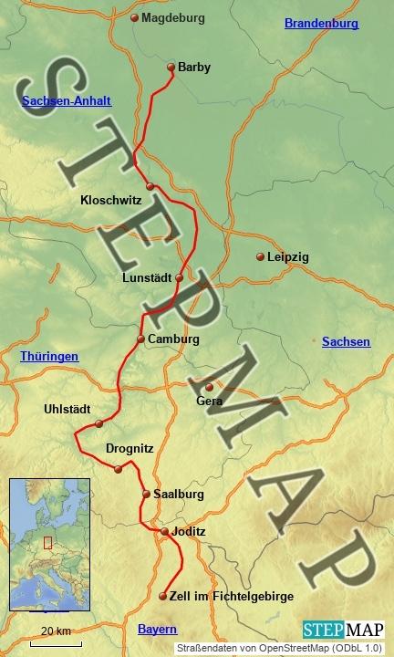 saale radweg karte Saaleradweg   Fahrradtouren in Deutschland