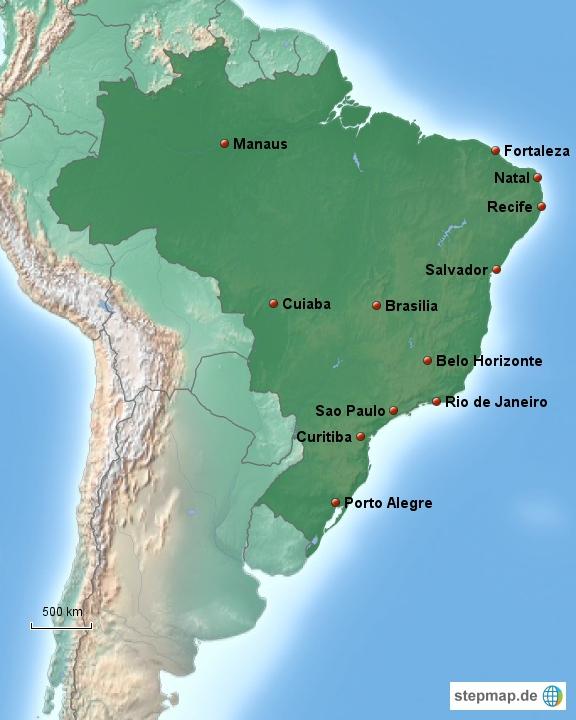 Spielorte der WM 2014