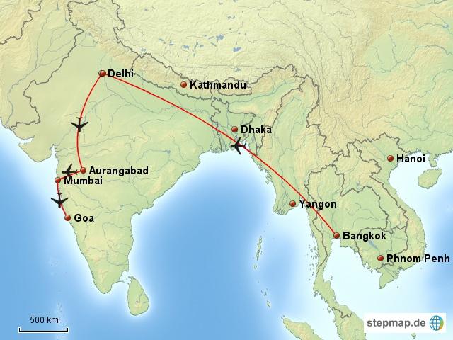 Unsere Reise nach Indien