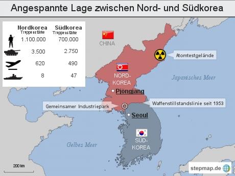 Angespannte Lage zwischen Nord- und Südkorea