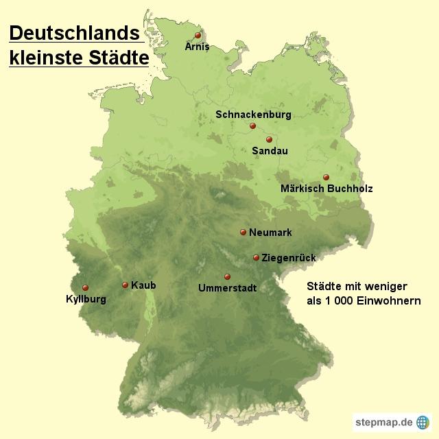 kleinste deutsche stadt