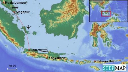 Hamburg-Kuala Lumpur-Jakarta-Yogyakarta-Bali-Flores-Komodo-Singapur-Hamburg