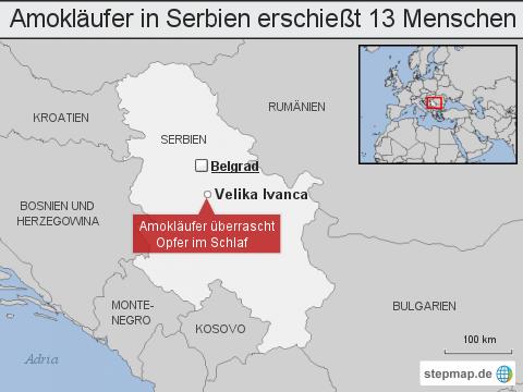 Amokläufer in Serbien erschießt 13 Menschen