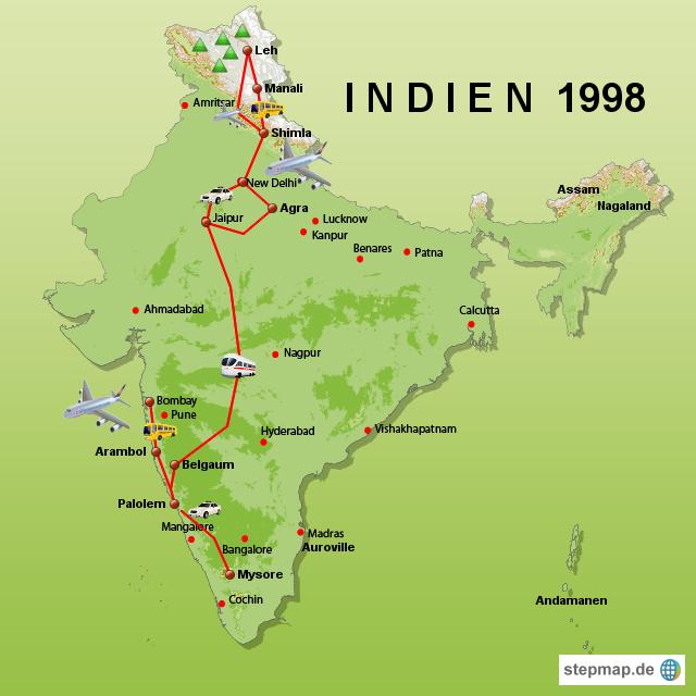 7000 km durch Indien