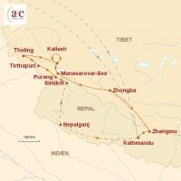 Routenkarte zur Reise Pilgerexpedition zum heiligen Berg