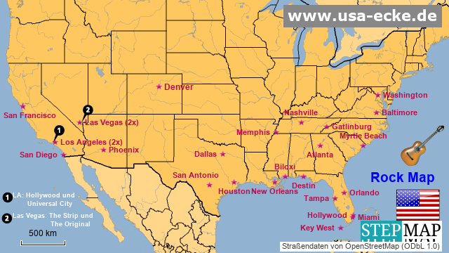 USA Rock Map