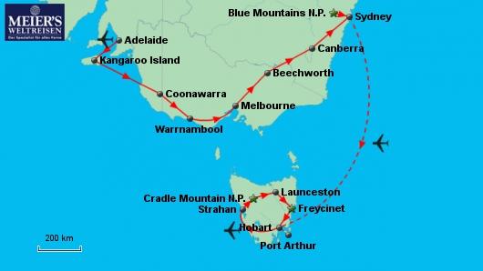 Südosten und Tasmanien