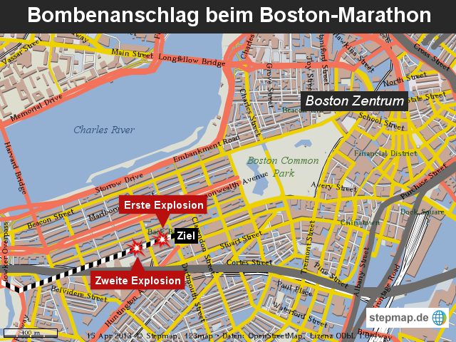 Bombenanschlag beim Boston-Marathon