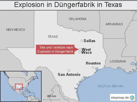 Explosion in Düngerfabrik in Texas