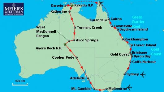 Kontrastreiches Australien