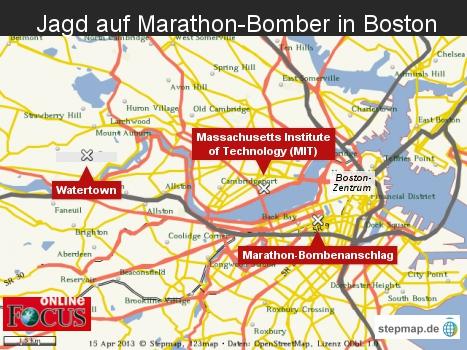 Jagd auf Marathon-Bomber in Boston