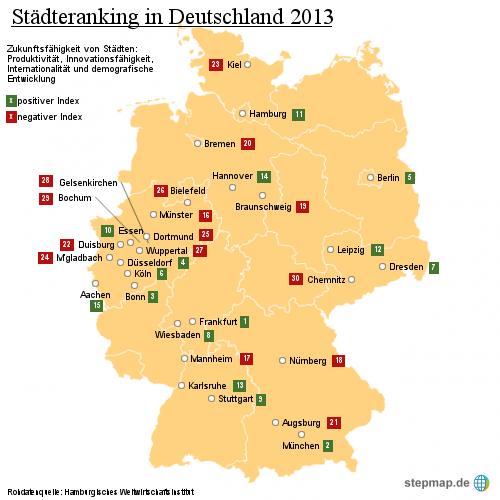 Städteranking in Deutschland 2013