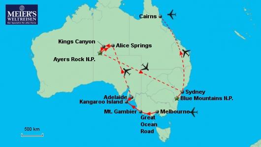Farbenfrohes Australien