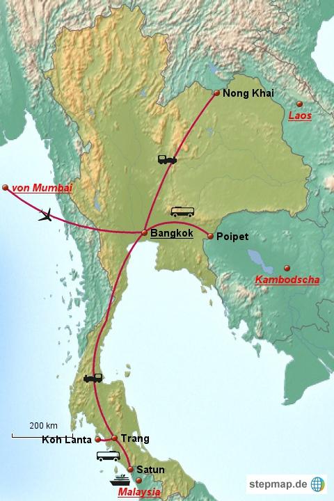 Da wir schon 2x hier waren, ist Thailand für uns dieses Mal hauptsächlich ein Transitland, um nach Laos, Kambodscha und Malaysia zu kommen.
