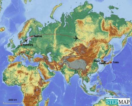 """Der große """"Hopps"""" nach Japan und später weiter nach Südkorea"""