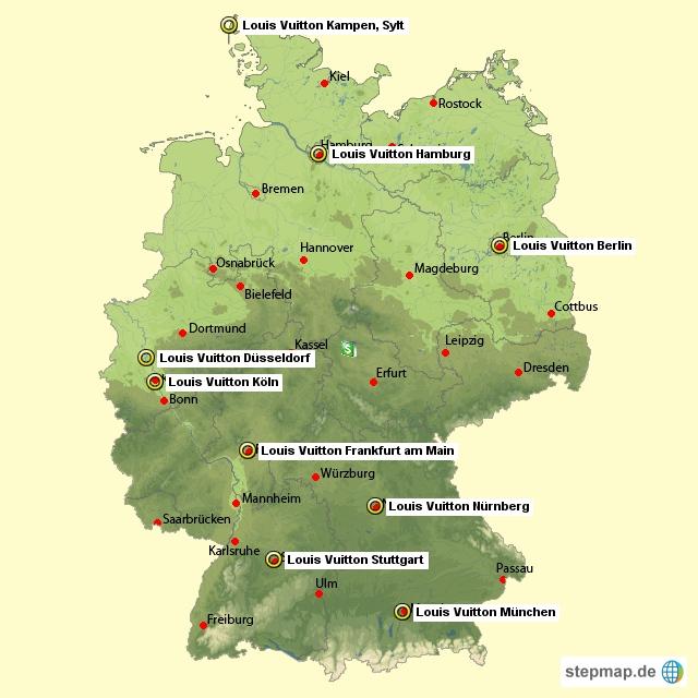 Filialübersicht Louis Vuitton Shops Deutschland