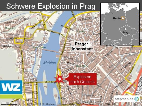Schwere Explosion in Prag