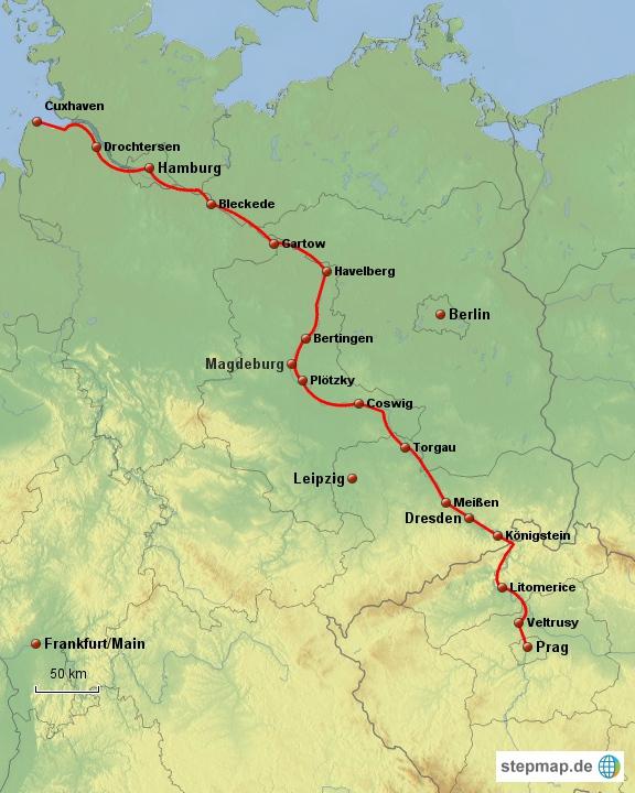 elberadweg karte Elberadweg   Fahrradtouren in Deutschland