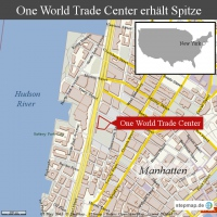 New York: One World Trade Center erh�lt Spitze