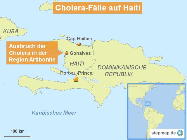 Cholera-Fälle auf Haiti