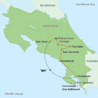 Costa Rica Wilde Süden