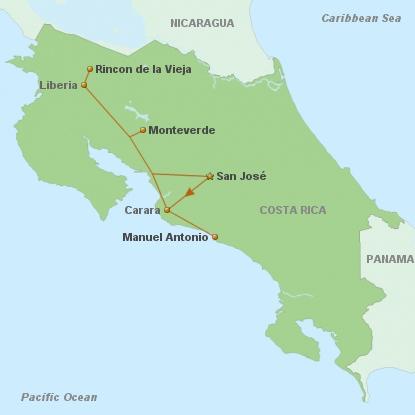 Costa Rica Pazifiktour