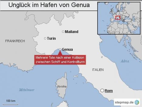 Unglück im Hafen von Genua