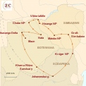 Karte: S�dafrika