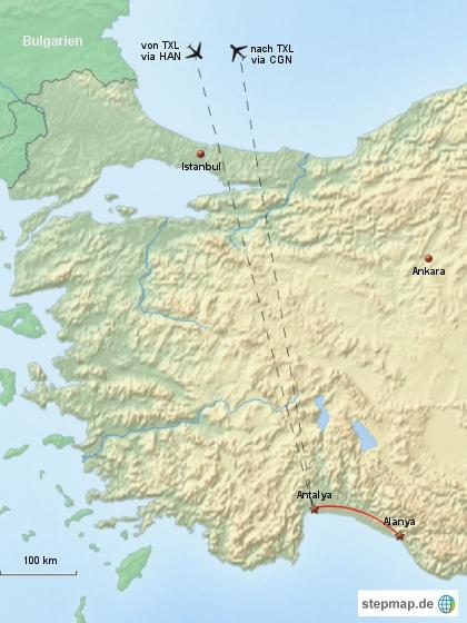Reiseverlauf Türkei 2010