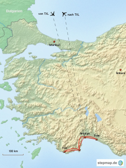 Reiseverlauf Türkei 2008