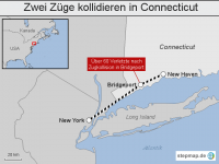 USA: Zwei Z�ge kollidieren in Connecticut